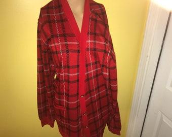 Red Vintage Cardigan
