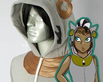 Zecora Pony Vest Costume Hoodie, Hand-Made, Fleece