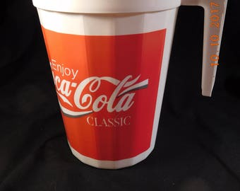 Vintage Coke Picnic Pitcher and Tumblers