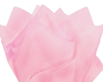 Blush Light Pink Tissue Paper . 20 x 30 inches . 24 sheets
