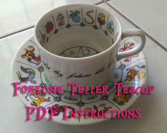 PDF Zodiac fortune teller tea cup instructions for International collectors guild fortune telling teacup