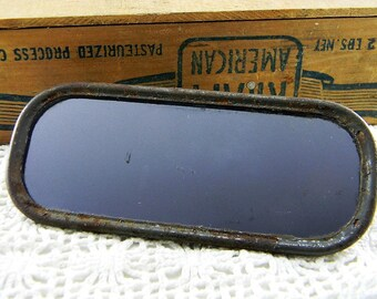 Vintage Rear View Car Mirror man cave decor