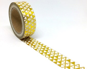 Gold Foil Triangle Geometric Washi Tape