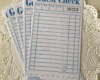 Vintage Inspired Guest Checks - Retro Guest Checks - Vintage Ephemera - Journal Spot - Junk Journal - Scrapbook Ephemera - Journal Paper