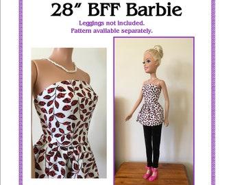 Strapless Dress Pattern to fit 28in Best Fashion Friend Barbie doll