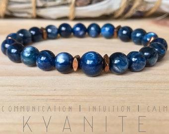 Kyanite Bracelet. Gemstones. High-quality.