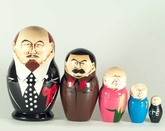Matryoshka Doll Lenin and Other Russian Political Leaders