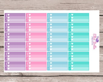 To Clean Mini Ombre Checklists | Colour Crush | Any Planner, Mambi Happy Planner & Erin Condren - 190