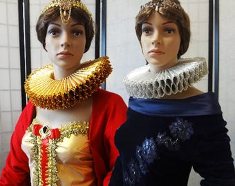 PRE-ORDER** Brocade Elizabethan Ruff Collar, Ruffle Collar, Gorgera, Spanish Collar