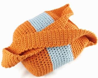 Cross Body Bag, Crochet Handbag, Tote Bag, Market Bag, Sturdy Bag, Wide Shoulder Strap, UK train ticket, Travel bag, Hipster Bag, Boho Bag