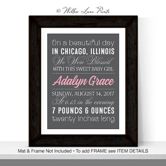 Personalized baby gifts nursery wall decor new baby girl negle Gallery
