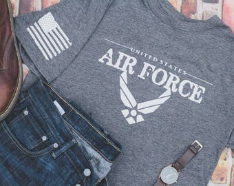 U.S Air Force Tee! Veterans and Active Duty! Dads and Moms Shirt! Support our Troops! Name Personalize Welcomed! Customization!