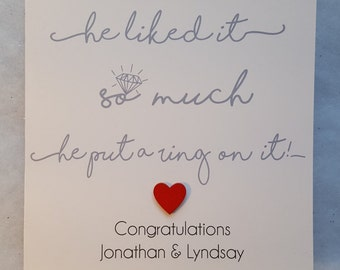 Personalised Engagement/ Wedding Day Congratulations Card