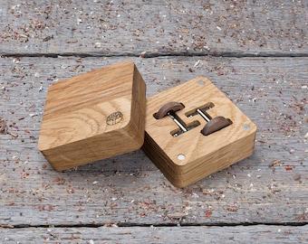 Free shipping Wooden Cufflinks, Round walnut wood cufflink, engraving wood gift box, wedding cufflinks set engraving groomsmen cufflinks set