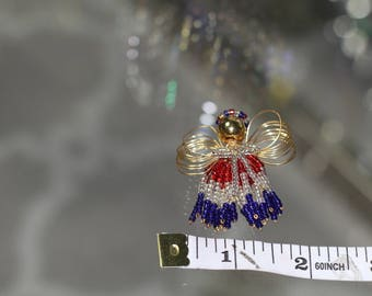 90's Colorful Angel Brooch