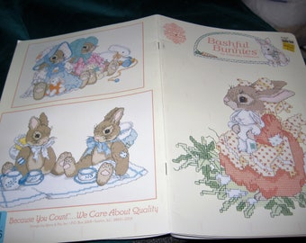 Bashful Bunnies Counted Cross Stitch Book