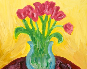 Limited Edition Archival Giclee Print: Spring Tulips