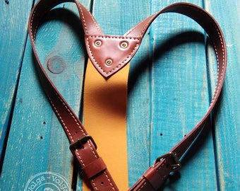 "Leather suspenders ""Dandy"""