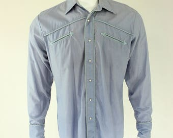 80's VanCort Western Shirt L Pearl Snap