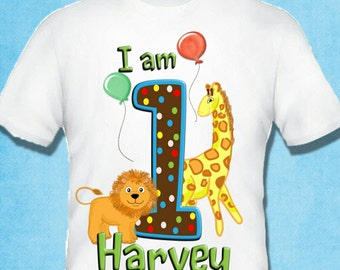jungle fun birthday t shirt top personalised any name and age twins