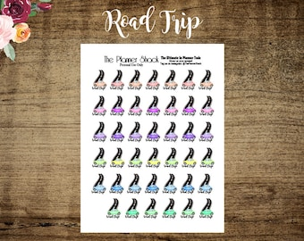 Printable Road Trip Planner Stickers // Road Trip // Vacation // Planner Printables // Printable Planner Stickers