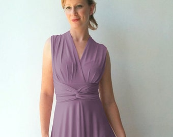 Infinity Dress - floor length matching tube top in light radiant orchid color