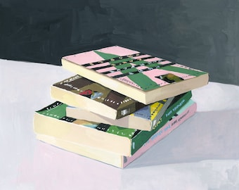"8x10"" print - book still life - ""Vonnegut Stack"""