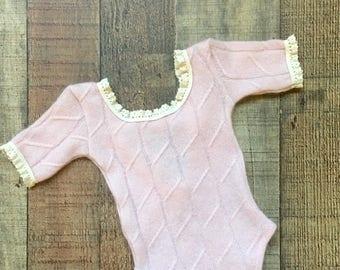 Newborn Pink Cashmere Romper, Photo Prop, Newborn Prop