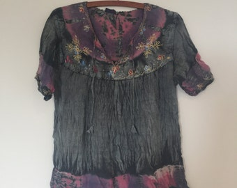 SALE!* 70s boho tie dye hippie shirt