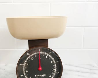 Vintage Soehnle Kitchen Scales // 70's Brown West German Kitchenware Scales Kilograms and Pounds