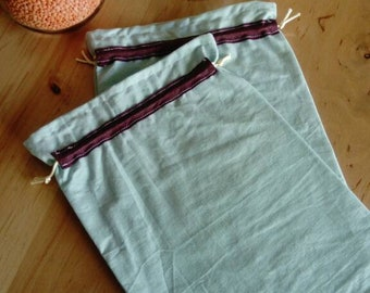 Set of two bags in bulk upcycled fabric