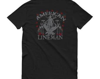 American Lineman Shirt for Powerline LInemen LInelife