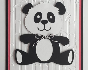 Handmade Happy Birthday Panda Card, A2, Birthday, Cute, Panda