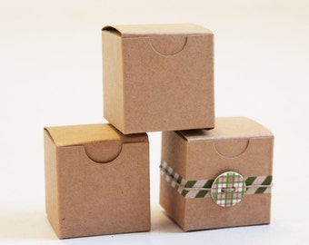 100- 2 x 2 x 2 Kraft Natural Gift Box