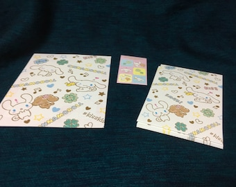Kawaii sanrio sinnamoroll letter set from japan