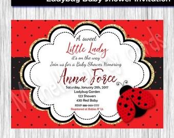50%Off Ladybug, Baby Shower, Invitation, Ladybug Red Invite, Ladybug Invitation, Ladybug Baby Shower, Ladybug Birthday, Ladybug Party, Ladyb