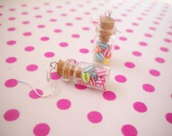 Vial berlingots earrings