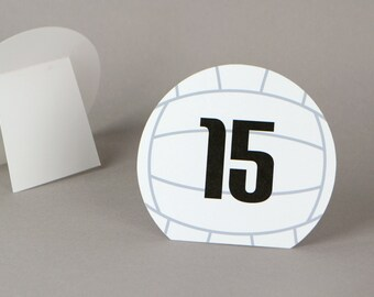 Volleyball Table numbers  |  Sports team banquet | Volleyball wedding | volleyball bar / bat mitzvah | sports party decor