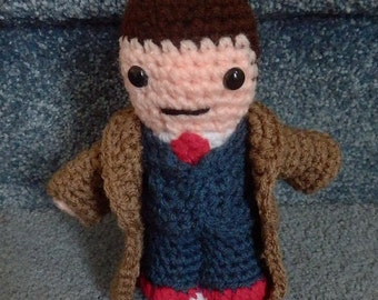 Dr Who like Doll Number 10 Tenth Doctor Hand crocheted  Amigurumi Doll