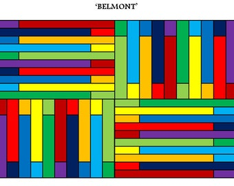 PDF Baby Quilt PATTERN....Quick and Easy...Jelly Roll friendly...'BELMONT' ... Instant download
