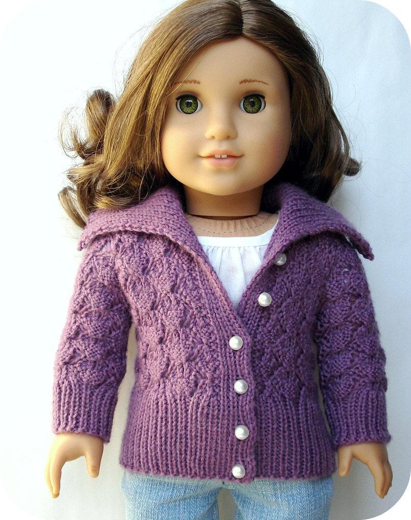 Helena Lace Cardigan Sweater - PDF Knitting Pattern For 18\