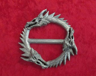 Missandei Greyworm Brooch Silver Three 3 Headed Dragon Daenerys Targaryen Cape Hold Khaleesi Cosplay Larp scarf stay