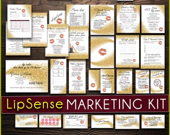 LipSense Marketing KIT LipSense BUNDLE Pack LipSense Business Application Cards LipSense Price List LipSense Distributor - Lip Marketing Kit