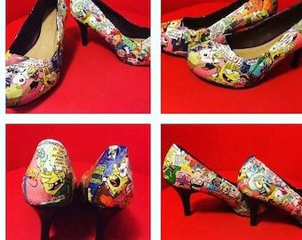 Unique decotauge Spongebob Squarepants shoes