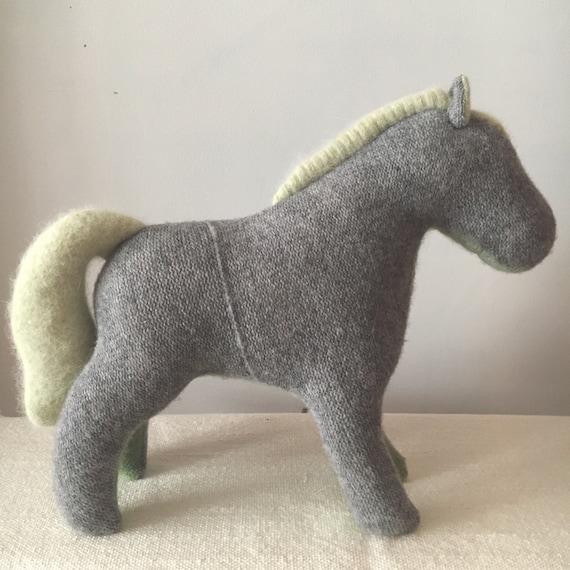 Soft Toy Horse, Grey Green