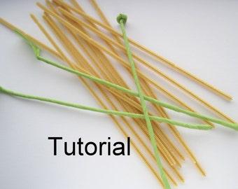 Tutorial : How to make ffflower stems