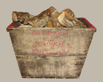 Vintage Wooden Champagne Storage Crate