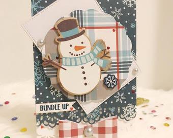 Handmade Mr. Frosty Christmas Card