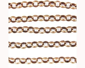 Rolo Chain - 1 Yard, 7mm x 2mm - Copper Color