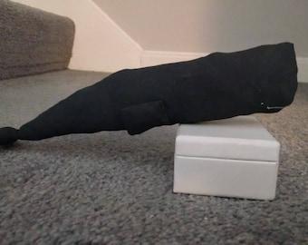 Sperm Whale stuffed animal, Fabric, Folk Art, Primitive Stuffed Animal